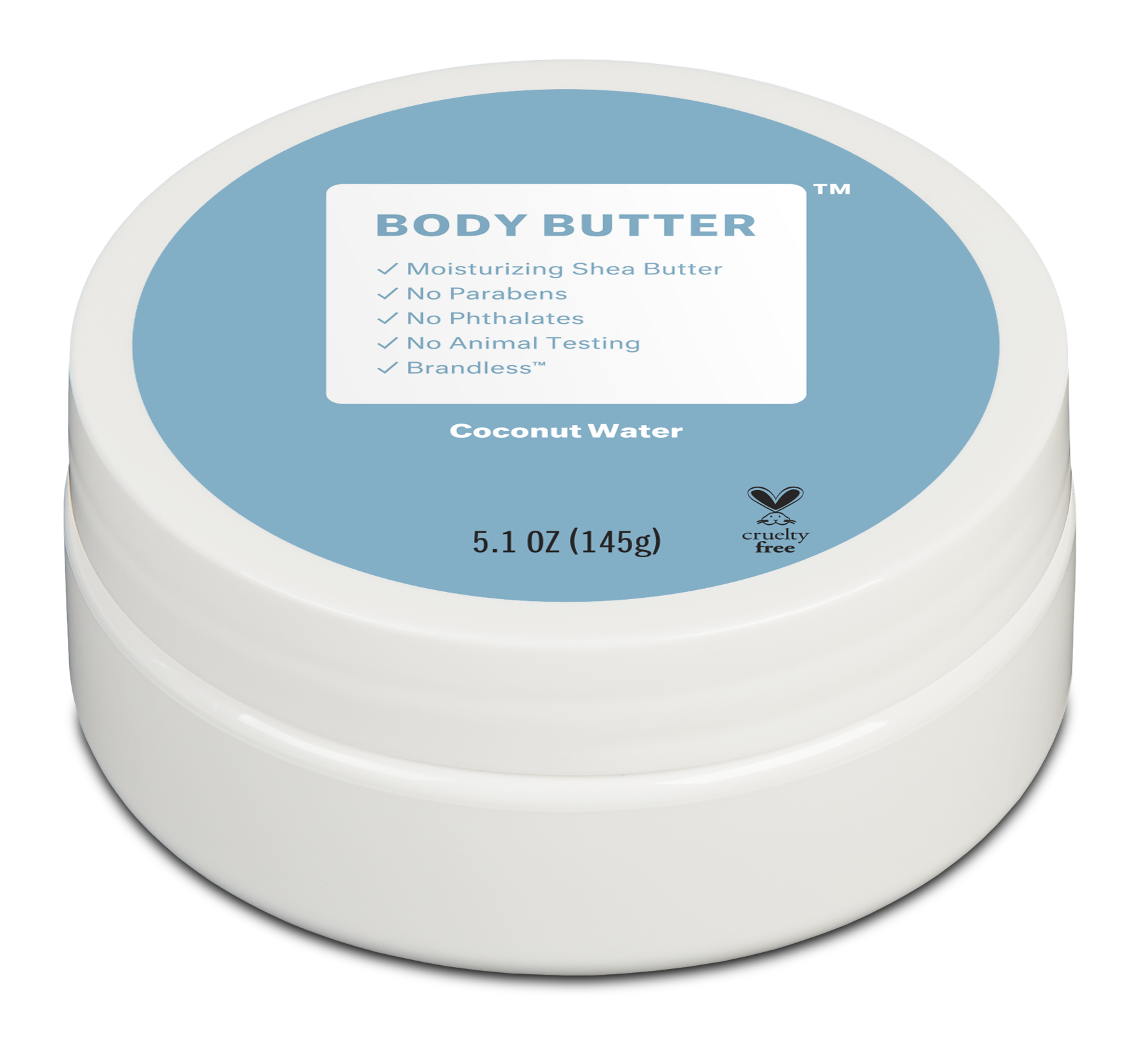 Brandless: Body Butter, Coconut Water