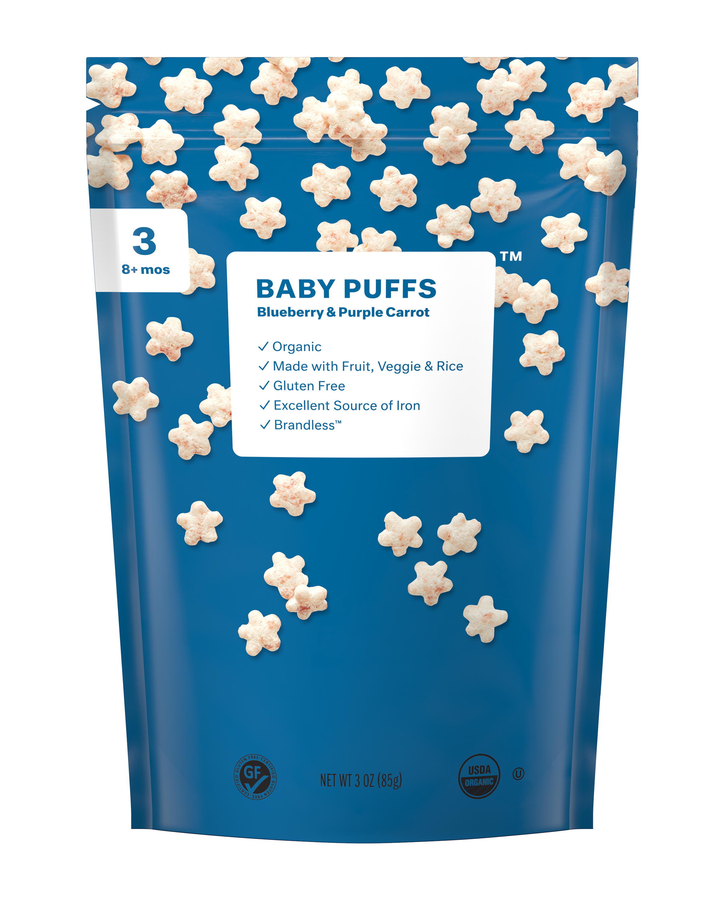 Brandless: Baby Puffs, Blue Purple Carrot