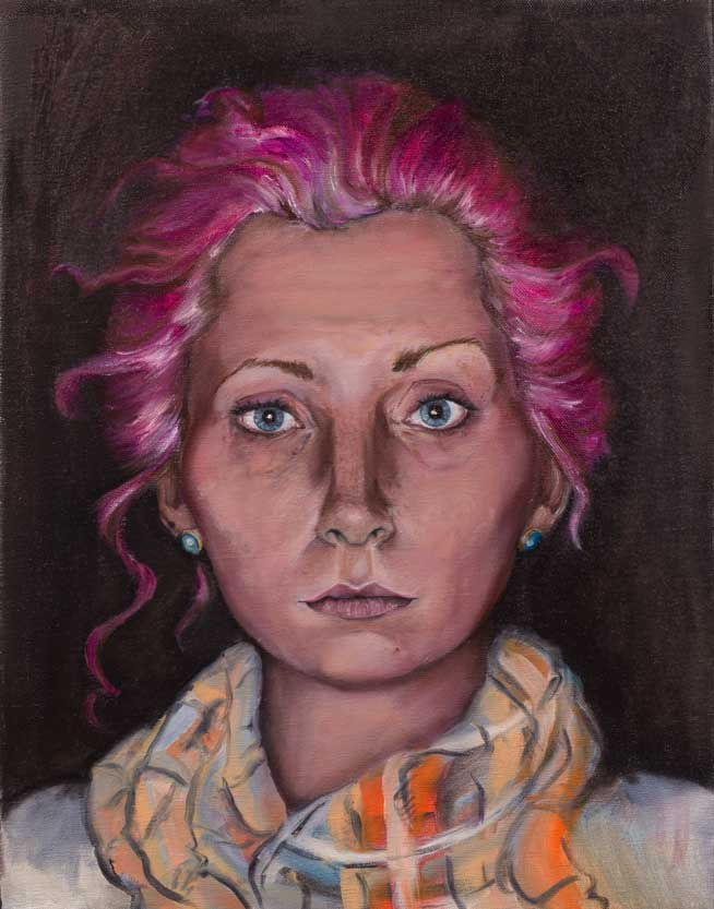 "Ellen, ""x,"" oil on canvas"