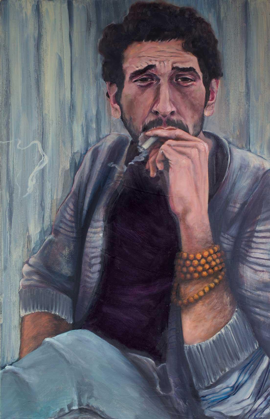 "Nik, ""x,"" oil on canvas"