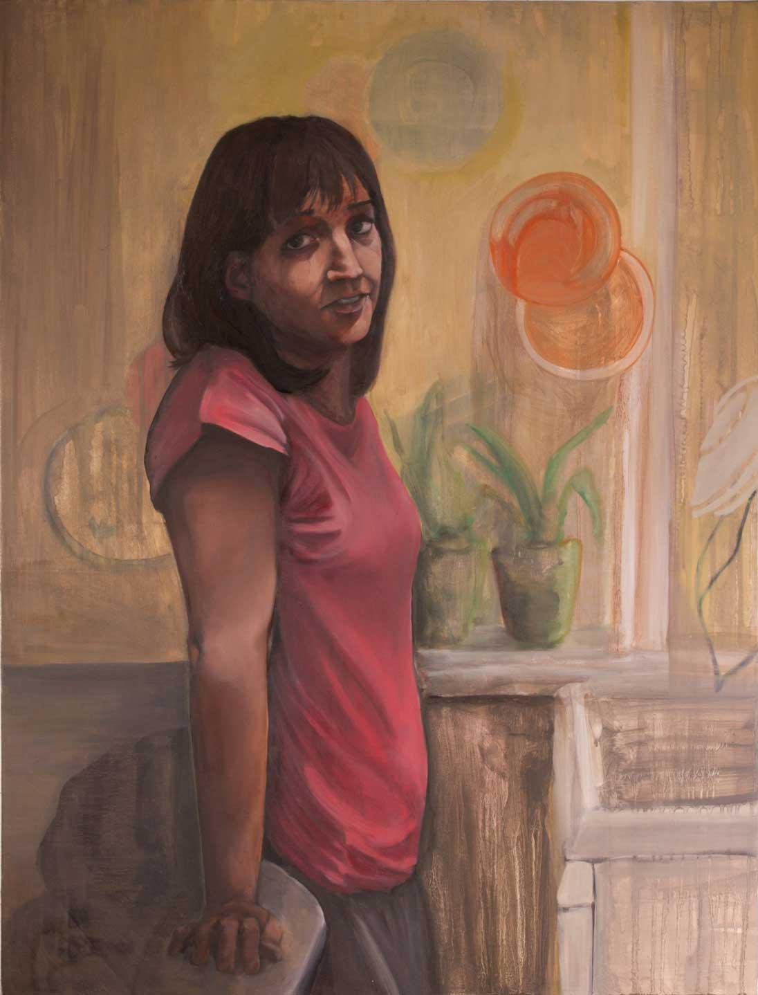 """Lindsay, """"x,"""" oil on canvas"""