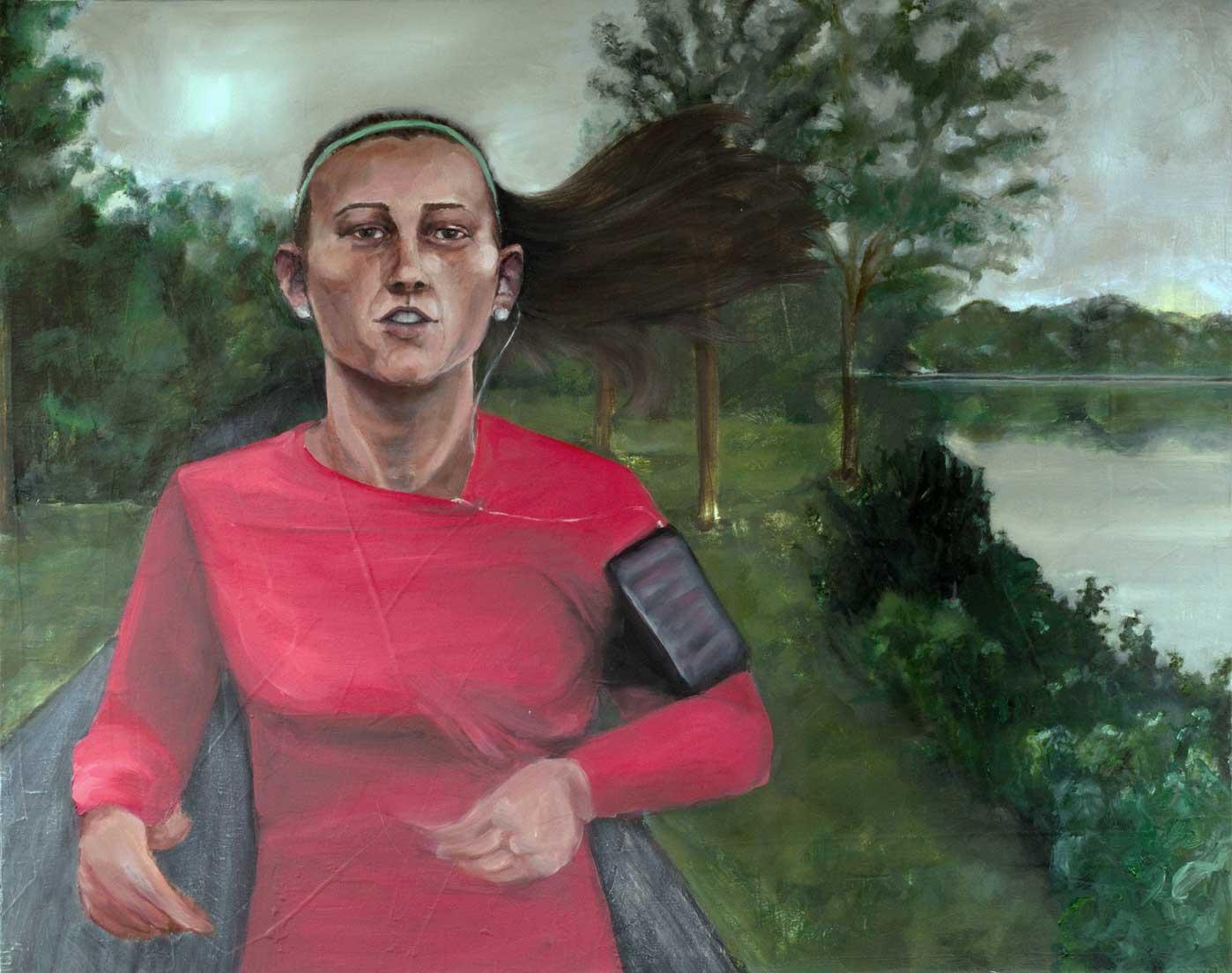 """Sydnee, """"x,"""" oil on canvas"""