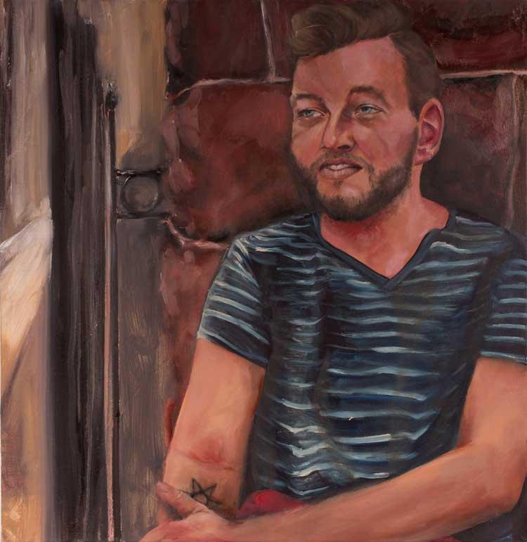 """Eric, """"x,"""" oil on canvas"""