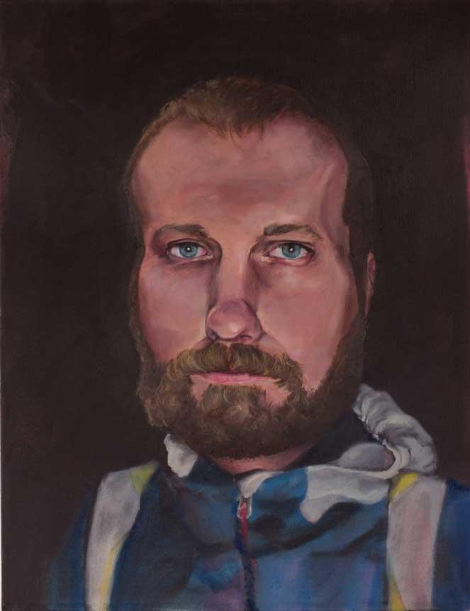 "Colin, ""x,"" oil on canvas"