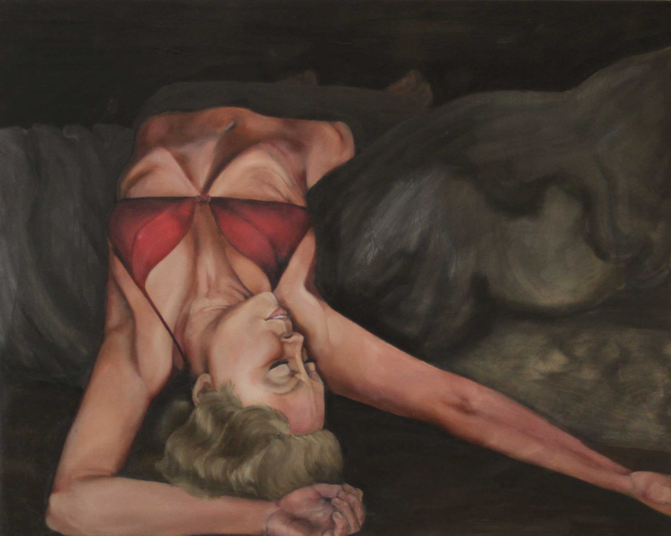"""Party Girl, 24""""x30,"""" oil on canvas"""
