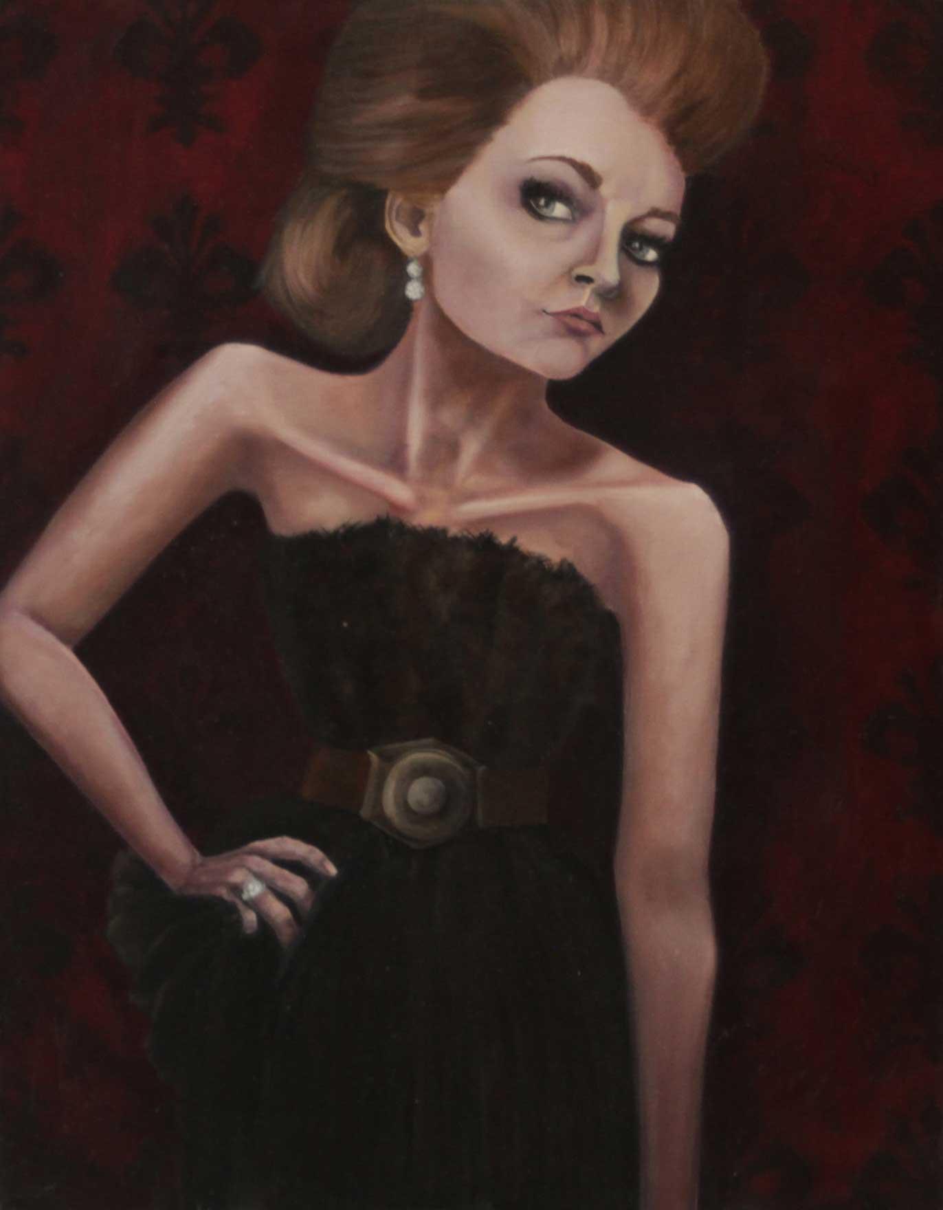 "It Girl, 22""x28,"" oil on canvas"