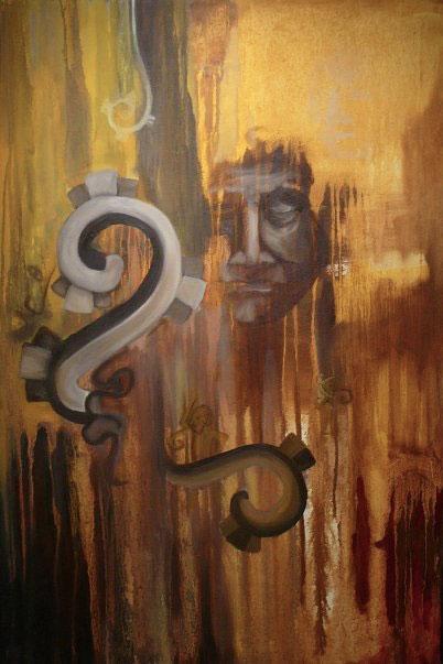 "Forgotten Language, 36""x24,"" oil on canvas"