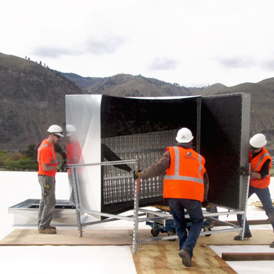 Large electric pre-heat system installation at the McDougall's plant