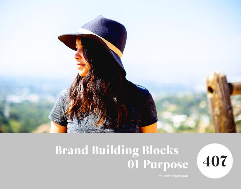 Series that details the building blocks of good branding