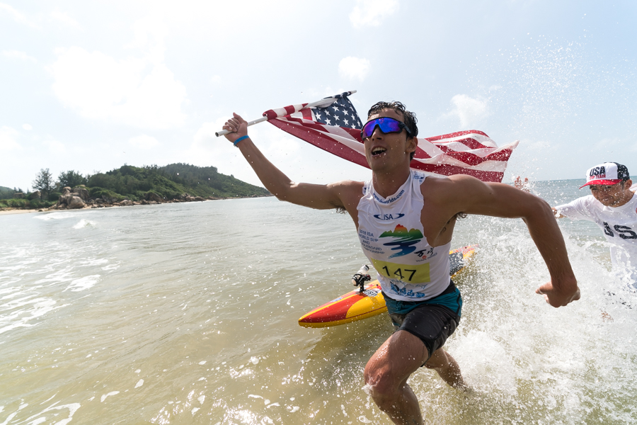 Hunter bring it home for team USA. Photo: ISA