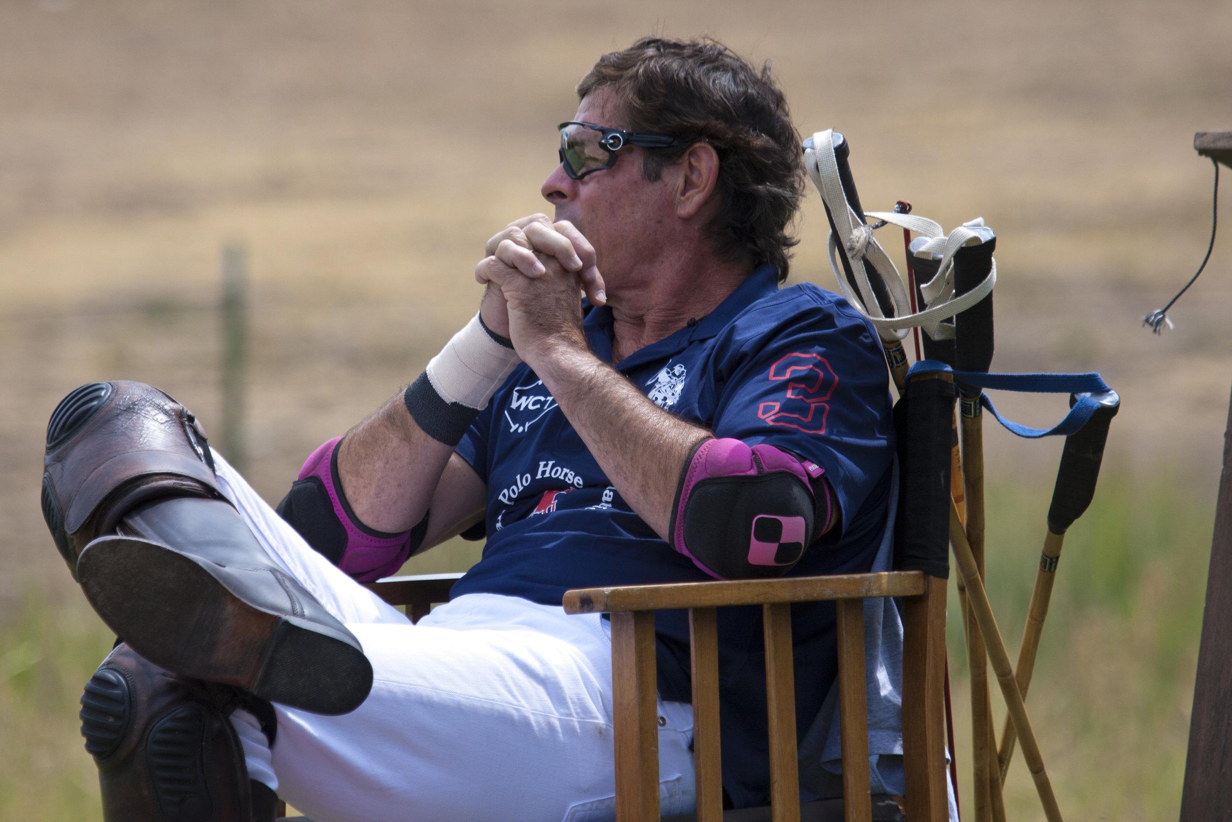Juan Bollini of American Polo Horse watches opening ga.JPG
