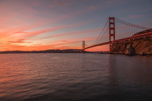 When in San Francisco and have a clear forecast... is there really a question as to whether you get up for sunset or not? Of course you do! ---------------------------------------- #seattlephotographer #sunrise #epic_captures #ig_shotz #canon_photos #canon_official #canon5dmarkiv #teamcanon #igers_seattle #sanfrancisco #goldengatebridge #landscape #beautiful #nofilter #mountains #cityscape  #canonfanphoto #westcoast_exposures #california #visitsanfrancisco #sanfranciscobay #sunrisepic