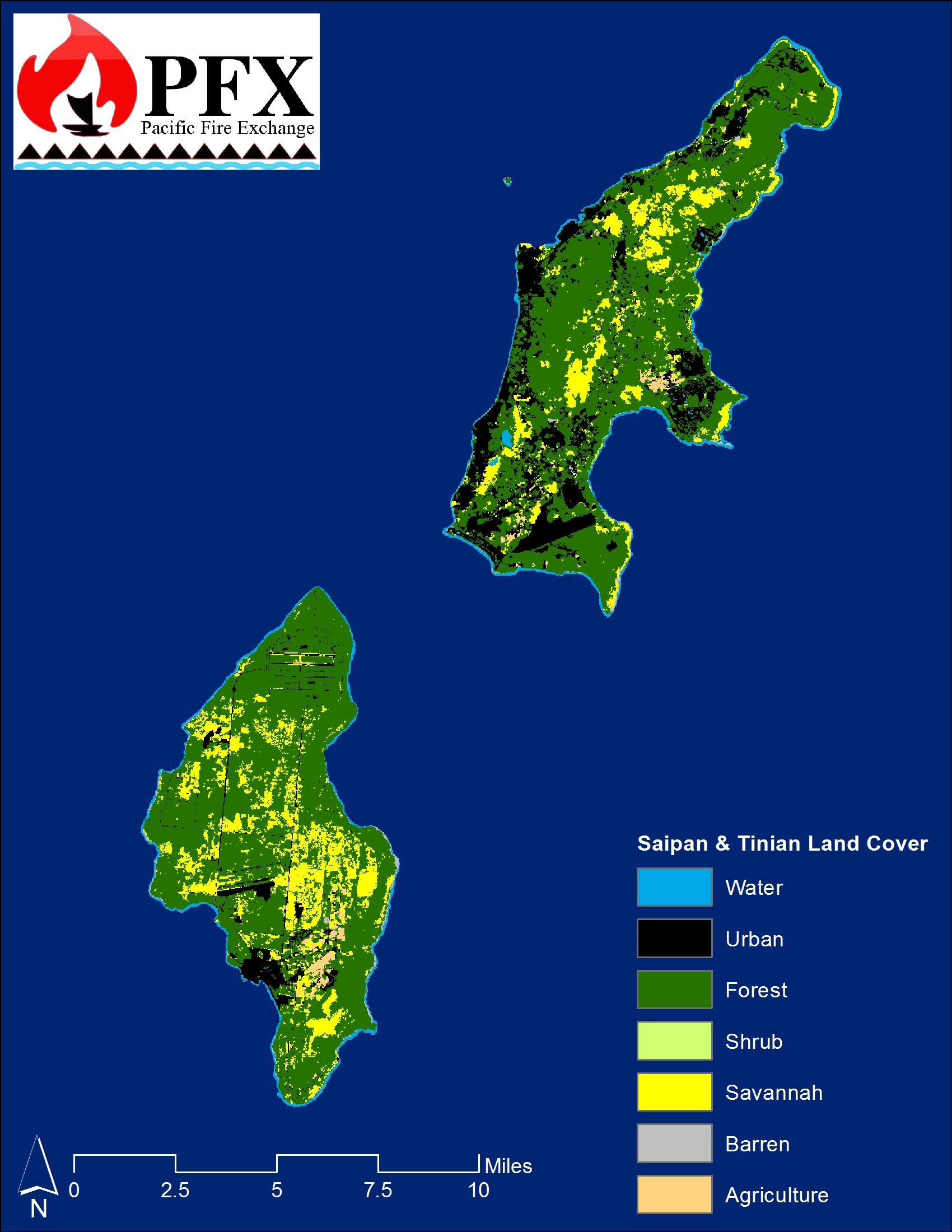 Saipan & Tinian Land Cover