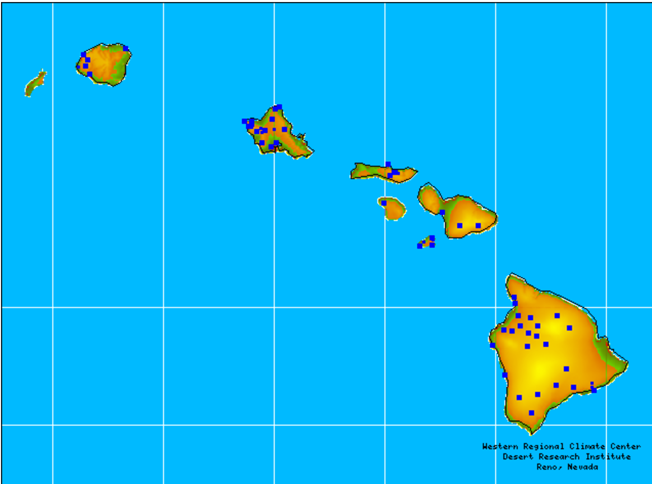Hawaii RAWS (Remote Area Weather Stations) - Data from the Western Regional Climate Center