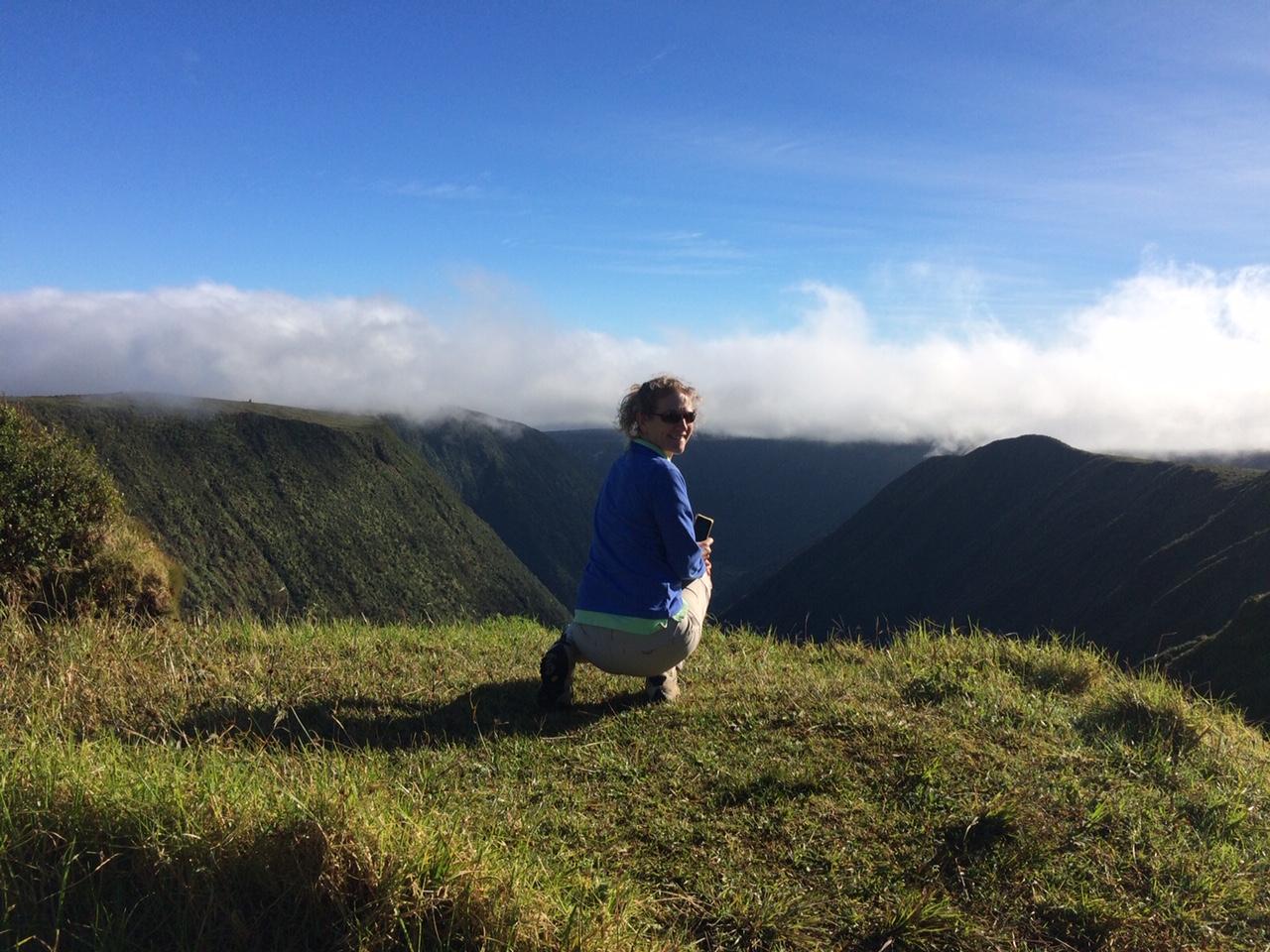 """I like traveling, hiking, camping."" Photo: Carolyn Stewart"