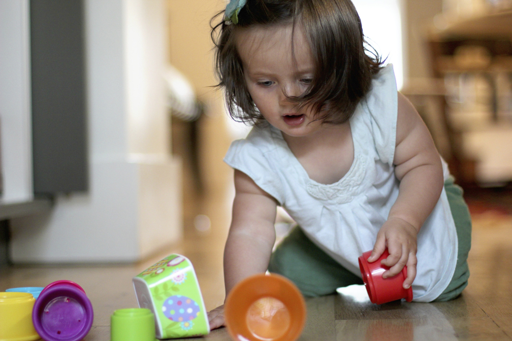 Alice is at the age where nesting cups and bowls and tupperware are the funnest toys.