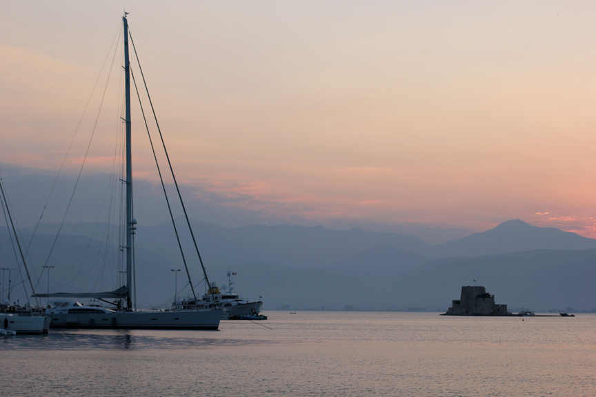 Sunsets in Nafplio are magical.