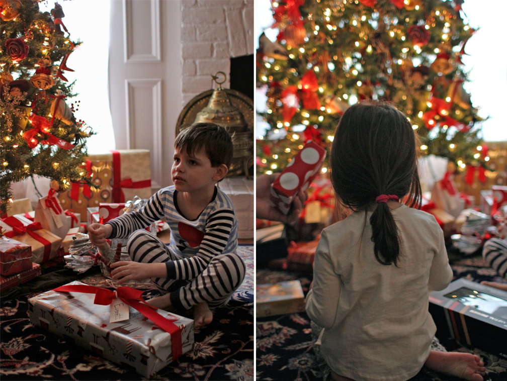 This is really the first Christmas that Everett and Alice understand what's going to happen and what is happening – the idea of Santa Claus and presents and giving gifts. It's so fun to watch them participate in full-force and take it all in.