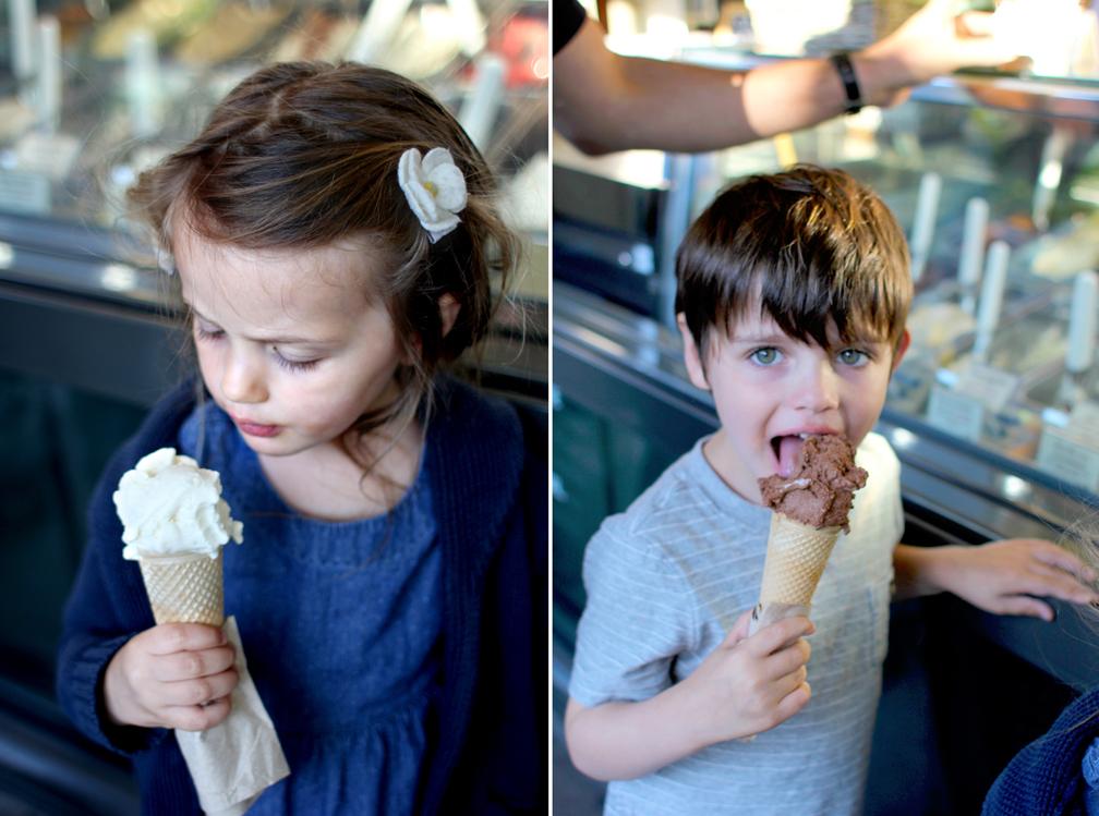 1 chocolate and 1 vanilla, please.