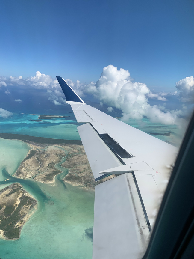 I found it hard to believe that Exuma would look as insanely stunning as the pictures I'd collected online, but before we even touched down, it was pretty clear that it would, indeed, live up to expectations. Look.at.that.water.