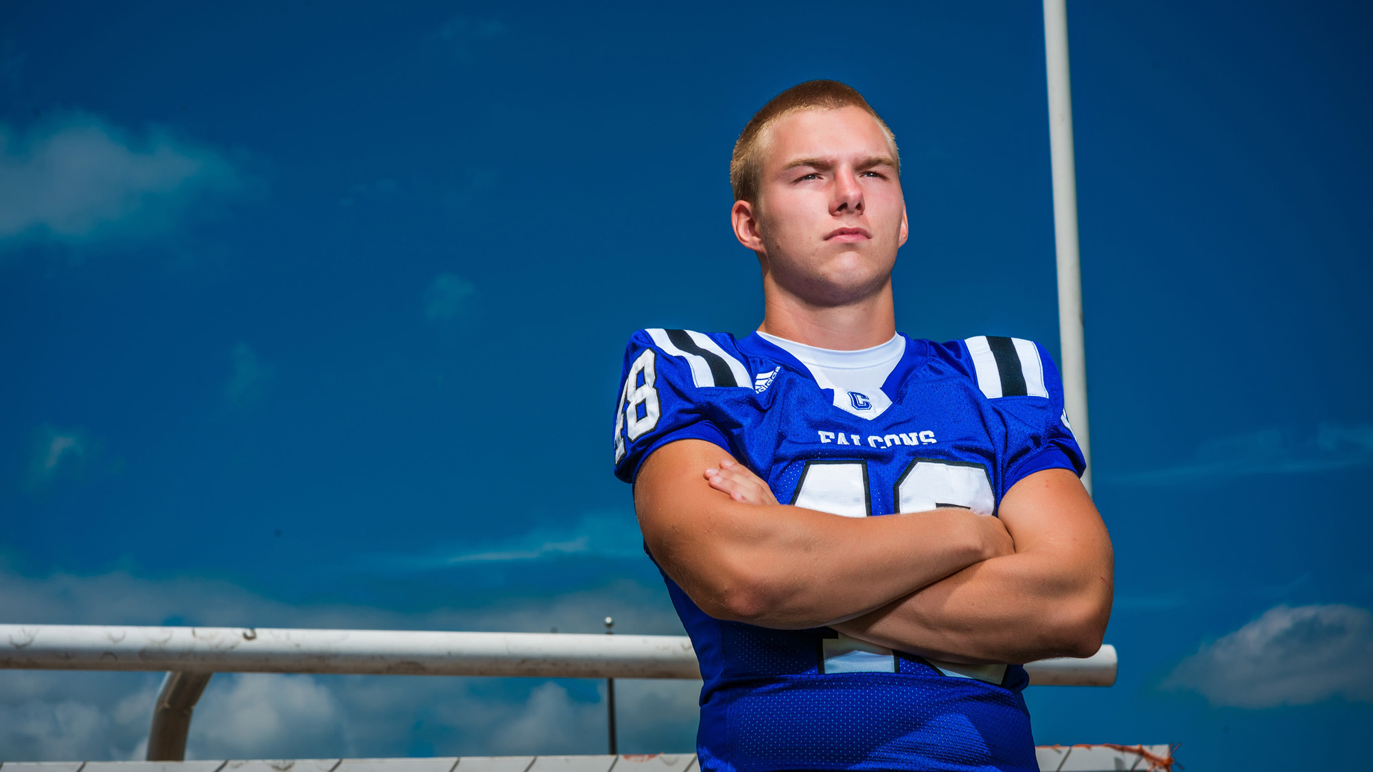 Football Senior Pictures by Tony Urban Photography, Somerset PA