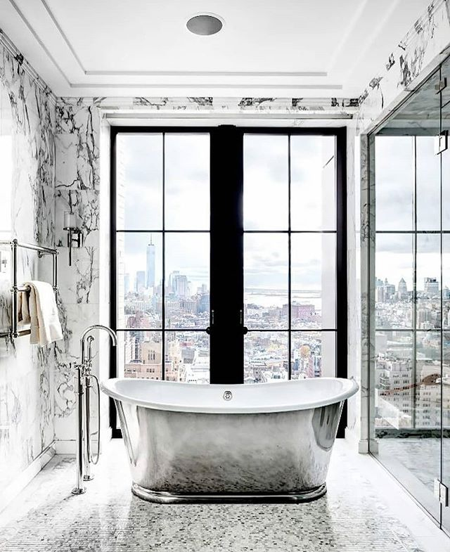 Can you picture taking a bath anywhere else other than here??? Marble here, Marble there, Everywhere Marble Marble....Its The Best Sit In The House....Now tell me, who wants a view like this? You can have one, all you have to do is call or email. Go to my bio page for contact information.  #townhousemag #brilliantlydesigned #exquisite #remaxgrand #remaxgrandlll #wehaveluxury #theblvddotinfo #theblvddotwork