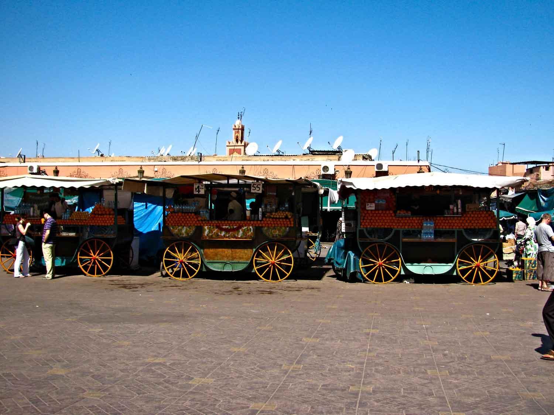 Morocco-Orange-Juice-Stands