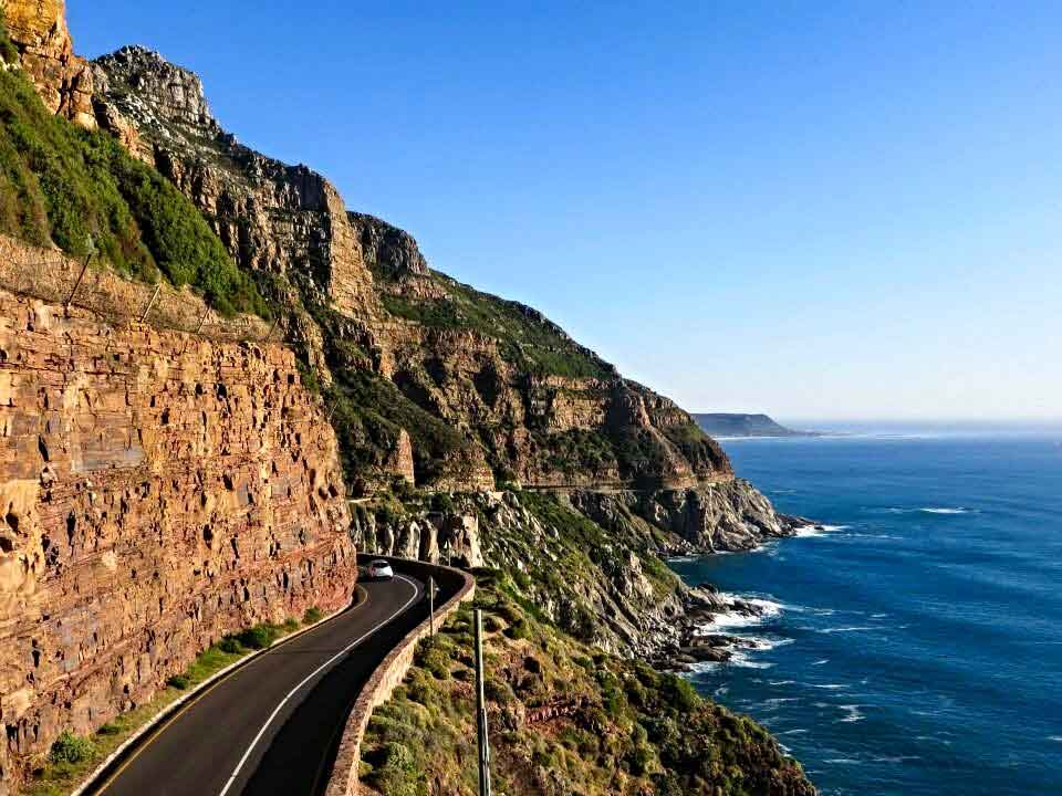 2014: The view of Chapman's Peak Drive from a lookout point in Cape Town, South Africa.