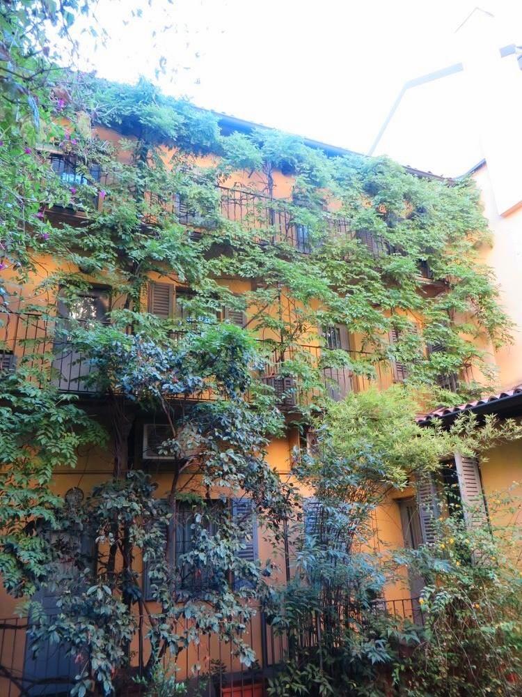 An apartment rental in Milan, Italy.