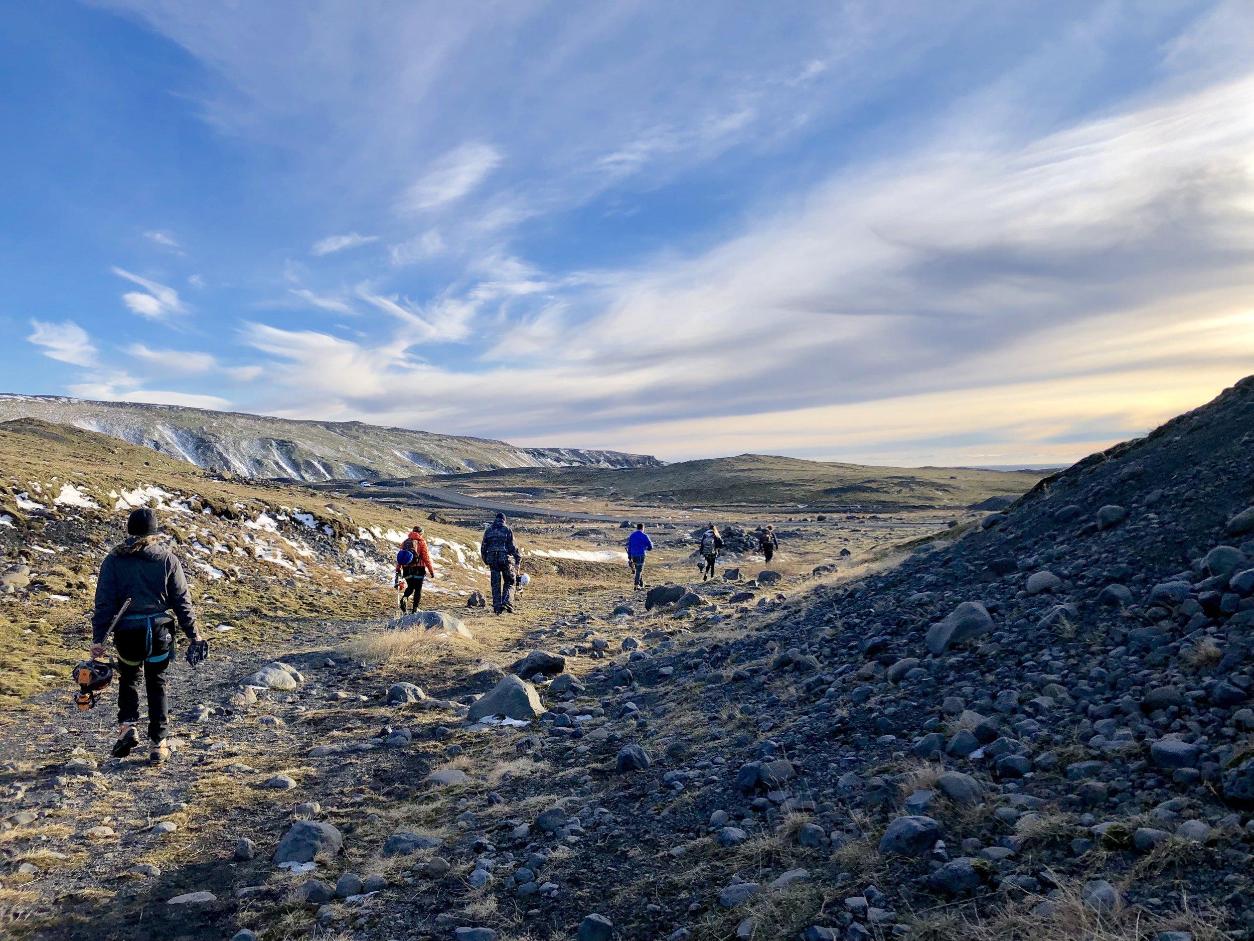 Iceland glacier hiking ice climbing