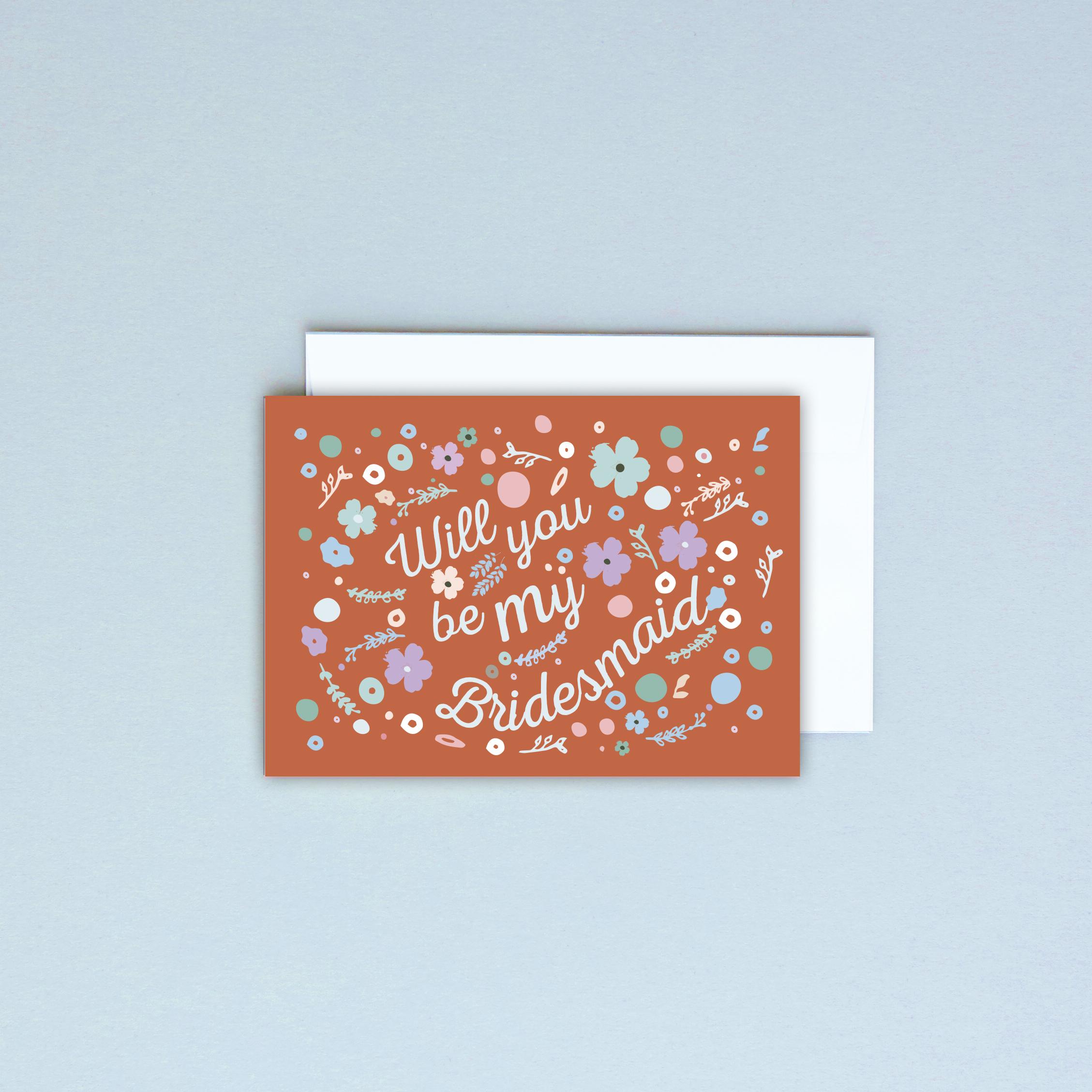 Bridesmanid Card Burnt Orange.jpg