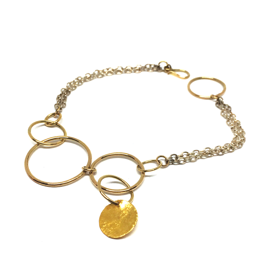 Chimes bracelet silver and gold 1