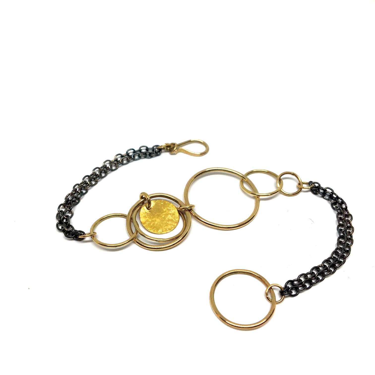 Chimes Bracelet Silver & Gold 2