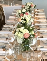 Long Reef Golf Club - September 2017  To Debbie and Briohney,  Massive thanks to you both for your spectacular table arrangements at our recent wedding at Long Reef Golf Club. Not only were we blown away with the amount of flowers, you absolutely nailed the colour palette....we have had such amazing feedback about how beautiful the tables looked.  It has been absolute pleasure working with you guys and would like to thank you for your incredible professionalism, amazing communication and relaxed approach ... it was very much appreciated. Thank you again X  Mark & Katy