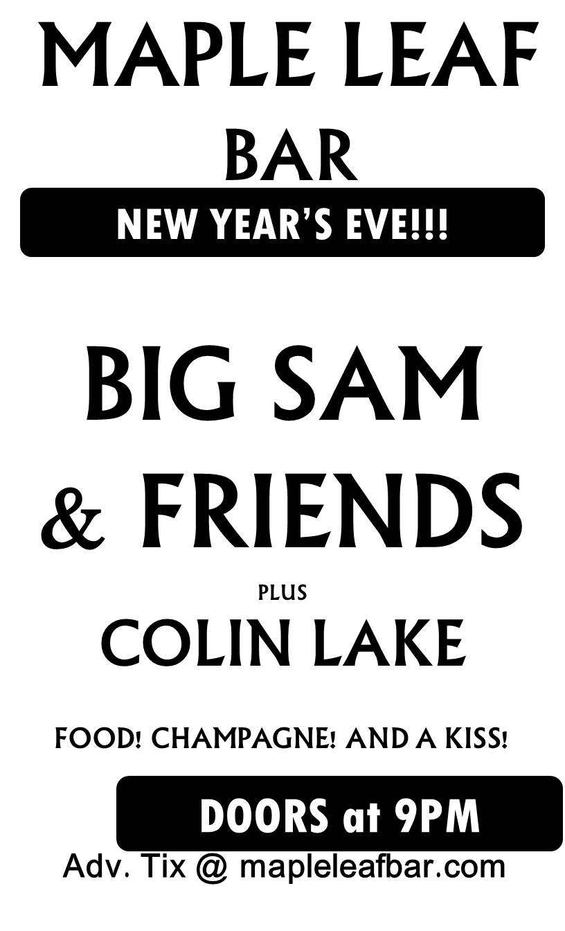 maple leaf nye poster