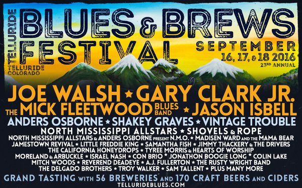Colin joins the stellar lineup for this year's  Telluride Blues & Brews Festival  in Telluride, CO.