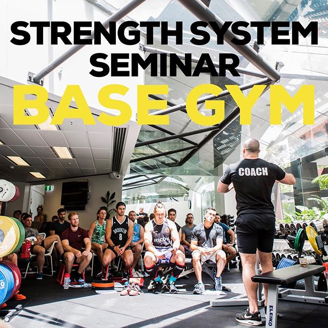STRENGTH SYSTEM LEVEL 1 IN SYDNEY💪🏼 My last level 1 Strength System in Australia for the first half of 2017 will be Saturday the 4th of February at @basegym 9.30am till 5.30pm.  I will be teaching the methods I use to get myself and my team of athletes WORLD CLASS STRONG 💪🏼 The methods include training athletes of all sports such as Powerlifting, Strongman, Weightlifting, Crossfit, MMA, Rugby, Aesthetic preparation and rehabilitation for men and women of all ages from the beginner all the way through to the very elite.  To reserve your spot, jump on www.australianstrengthcoach.com/education or click the link in my bio. DON'T MISS OUT 👊🏼 #strengthsystem #education #learnfromthebest #australianstrengthcoach #powerlifting #strongman #weightlifting #crossfit #rugby #mma #fitnessmodel #rehabilitation #sport #athlete #followthesystem @australianstrengthcoach