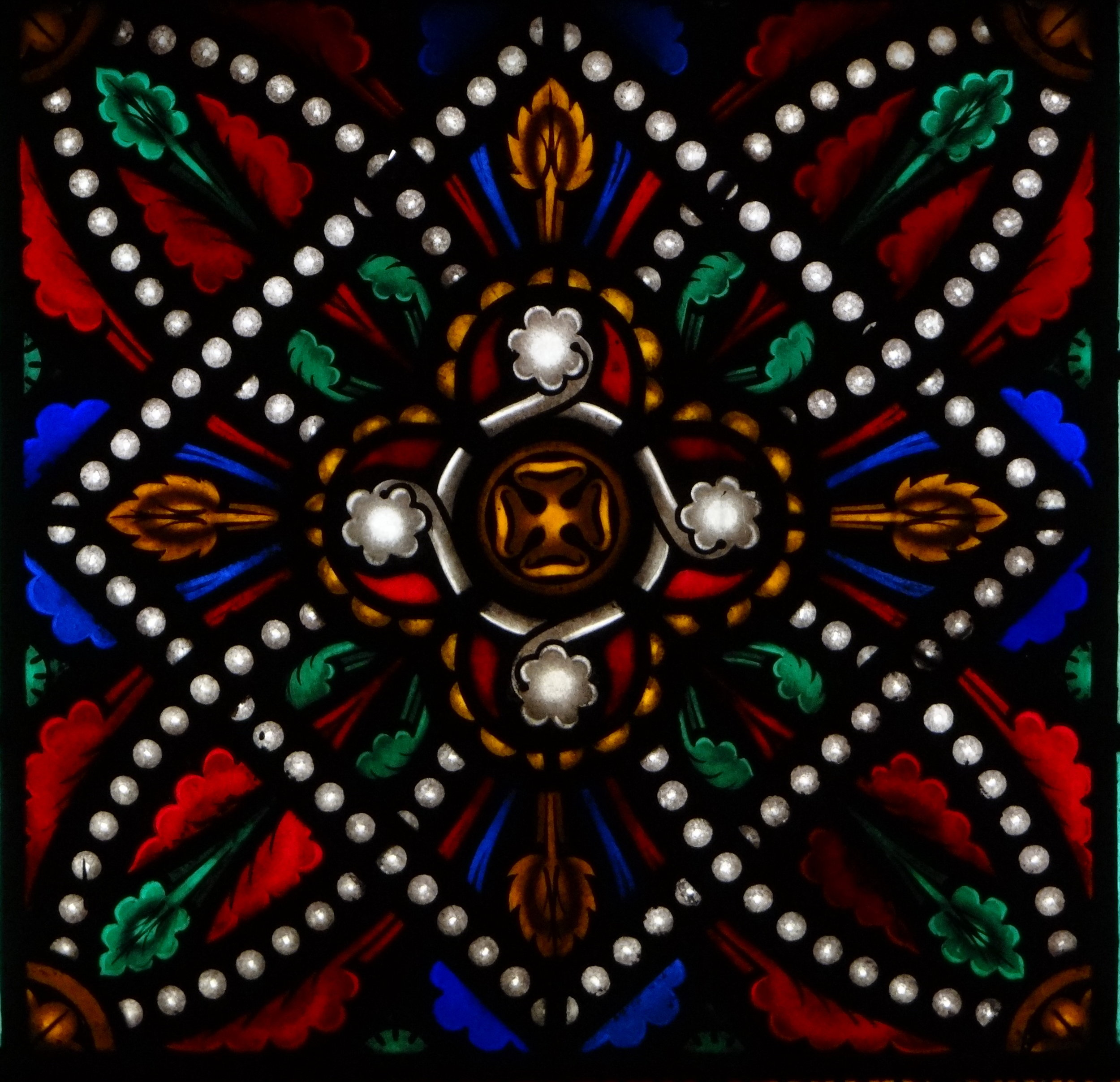 One of our stained glass windows.