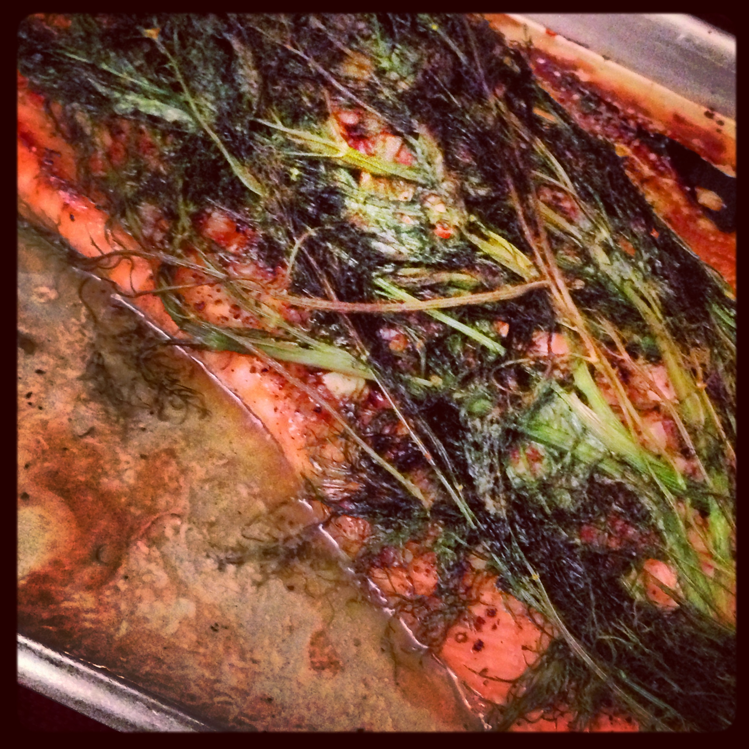 DILL AND ALMOND SALMON