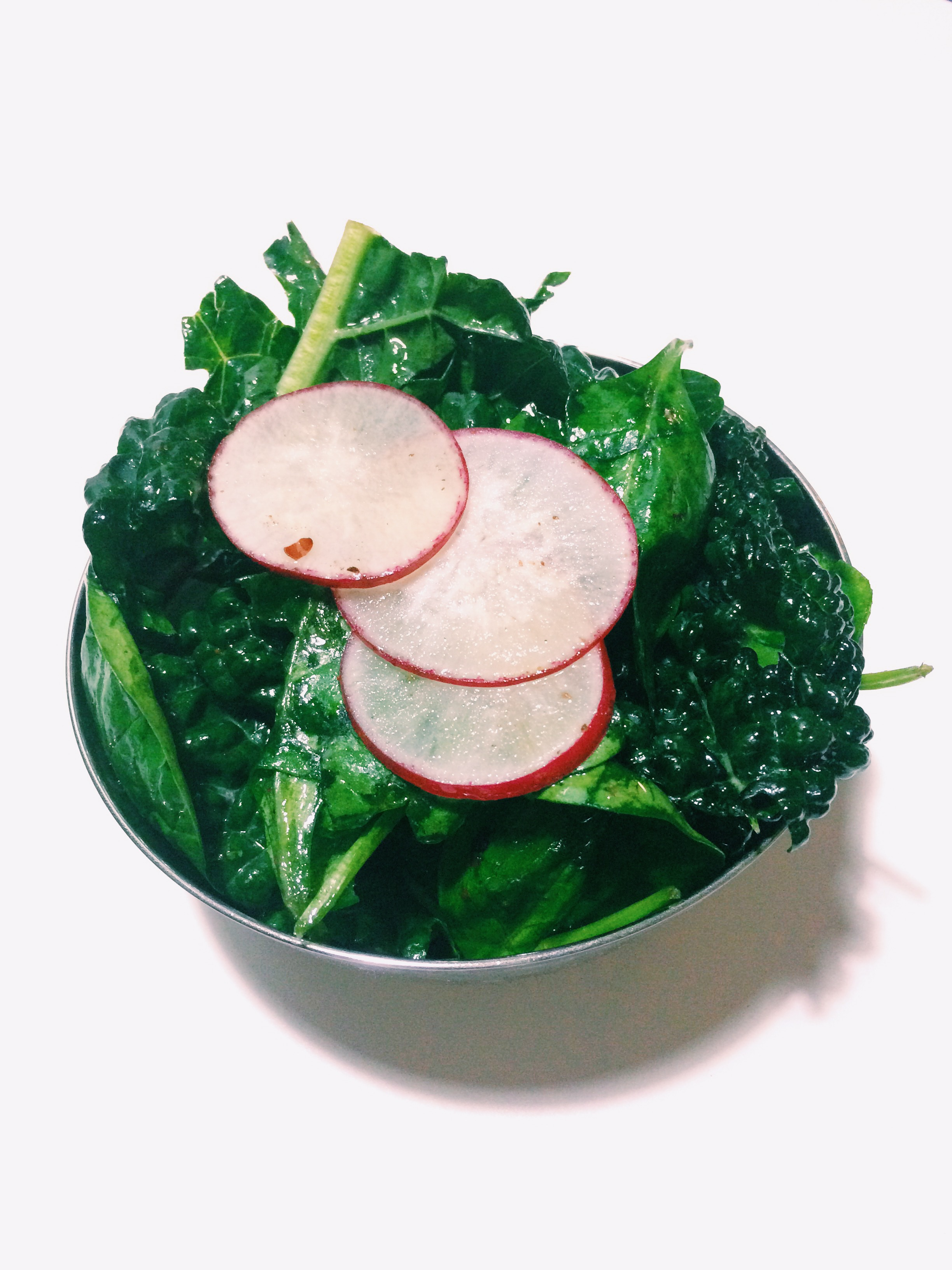 KALE SPINACH AND RADISH SALAD