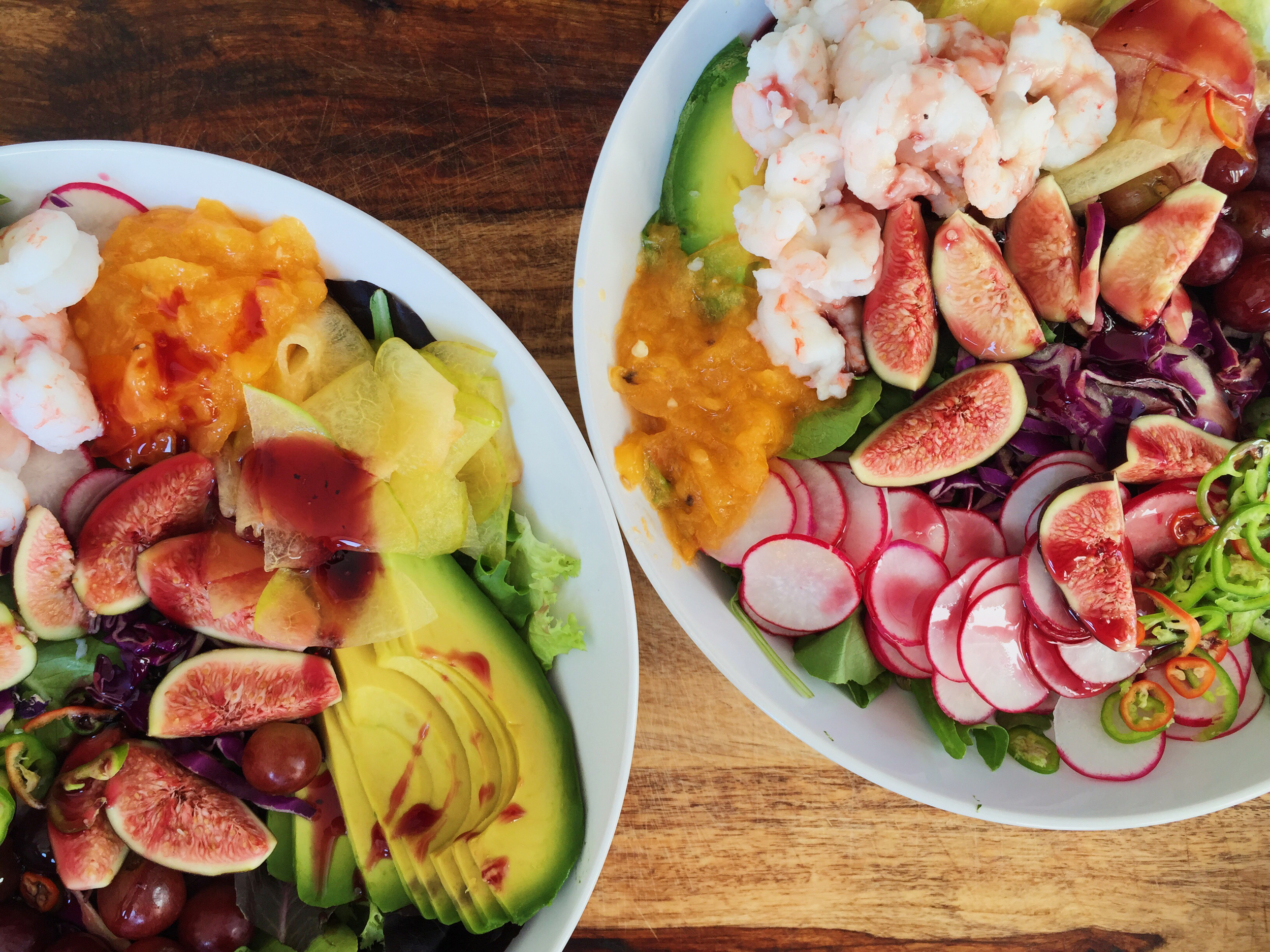 SHRIMP AND SPICY FIG SALAD