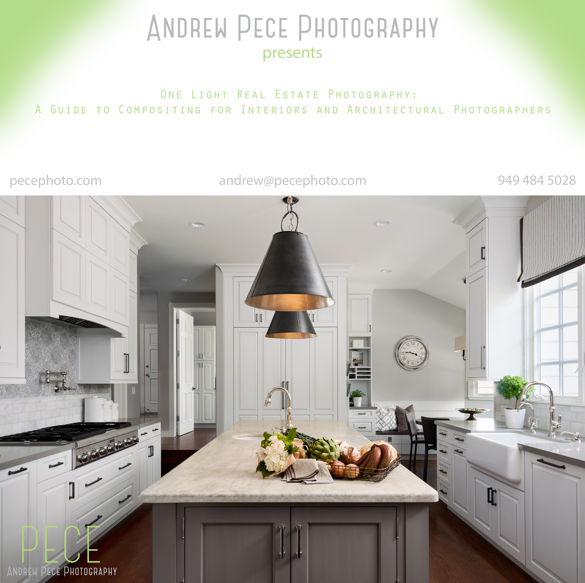 The course culminates with a 1.5 hour video edit of a modern kitchen (final image pictured above).
