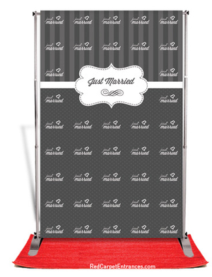 Just Married Wedding Backdrop Red Carpet Kit 5x8 Red Carpet Runner Red Carpet Backdrop Event Shop