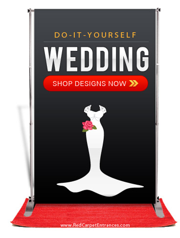 DIY Red Carpet Wedding Photobooth