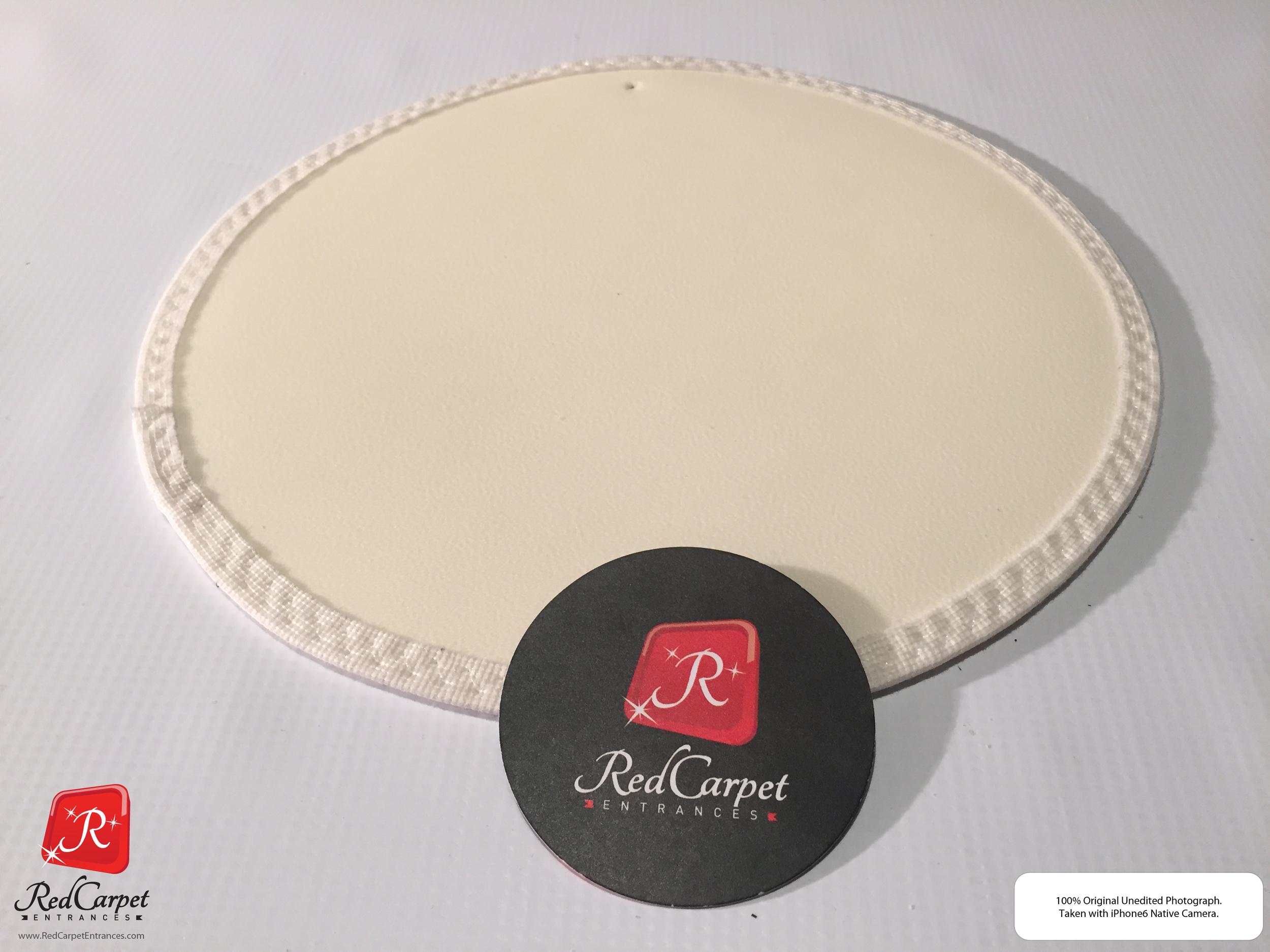 White Vinyl Carpet Runner