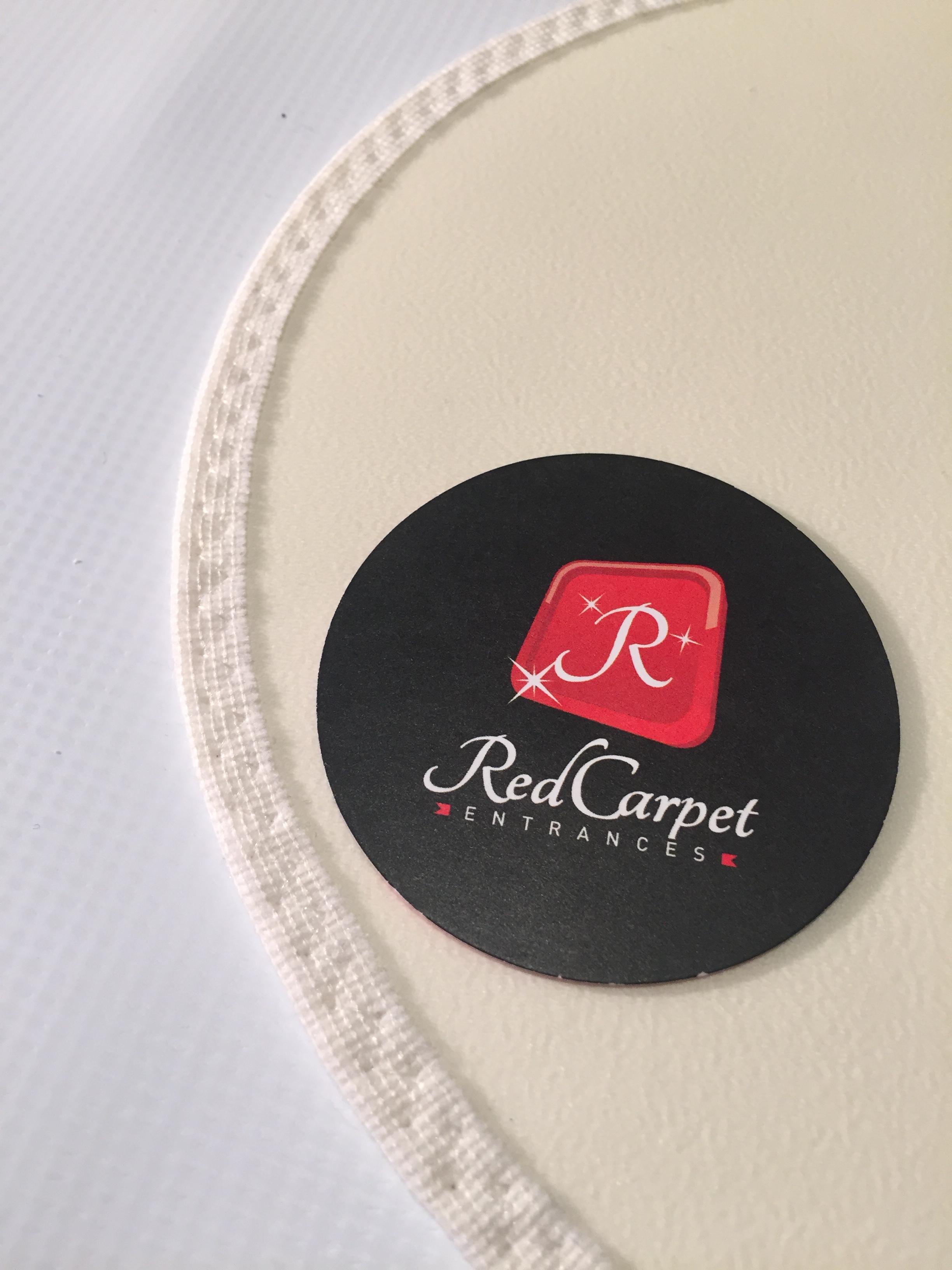 White Vinyl Rug Runner