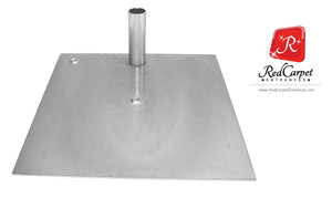 Heavy Duty Base Plate for Pipe and Drape System 450x450mm Silver
