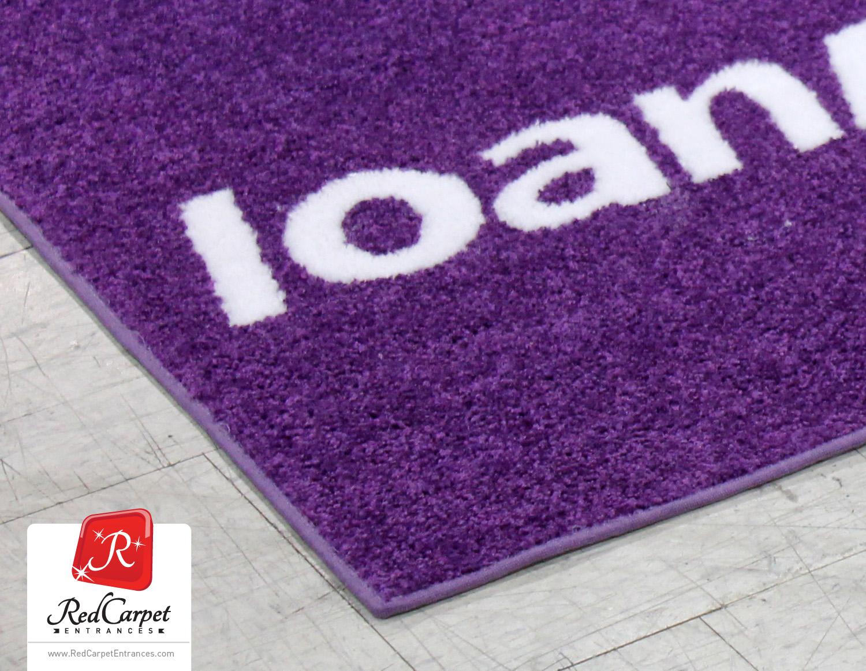 logo in-lay rug