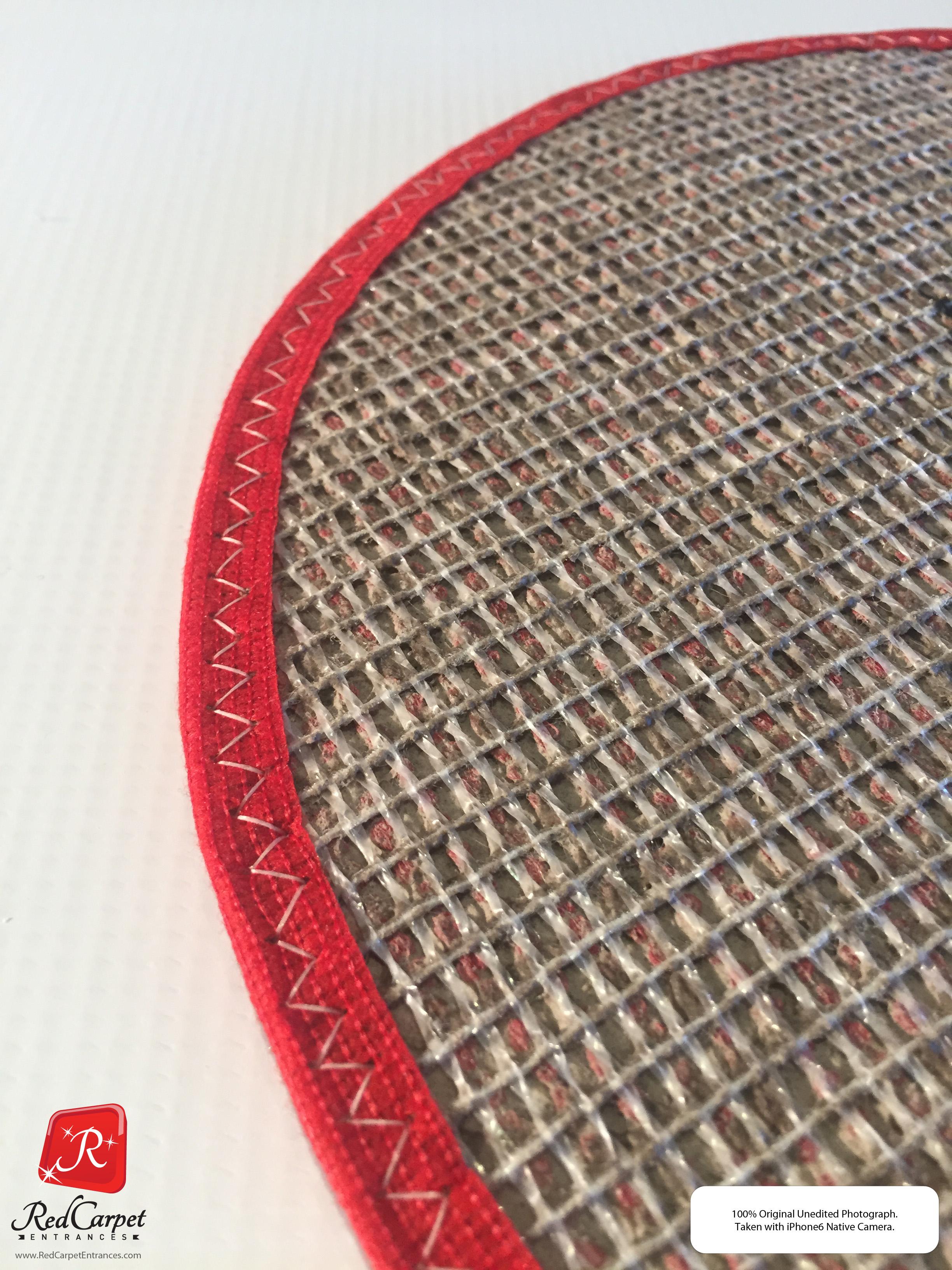 nylon backed bound logo rug