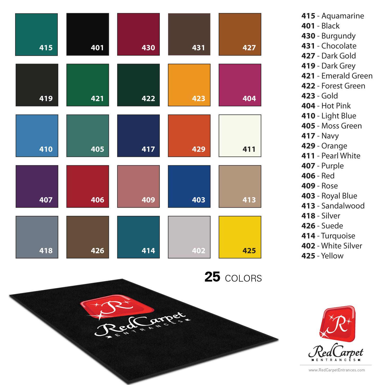 custom logo mat colors